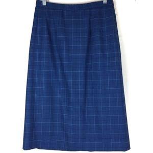 pendleton vintage plaid midi skirt 12